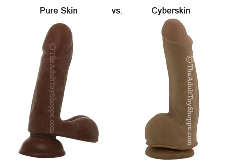 Cyberskin and Pure Skin Dildo comparison