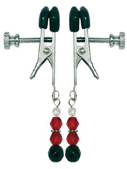 Adjustable Nipple Clamps with Red Beads