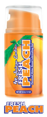 ID Juicy Flavored Sex Lubes - Fresh Peach