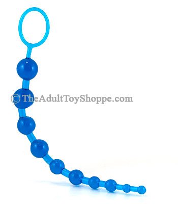 Blue Jelly Anal Beads