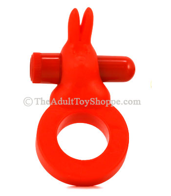 Red Silicone Vibrating Cock Ring