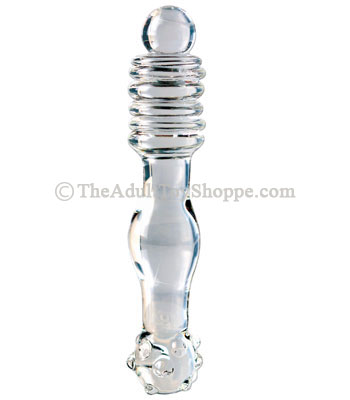 glass ribbed massager