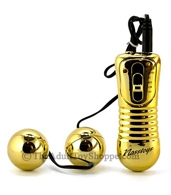 Golden Vibrating Ben Wa Balls